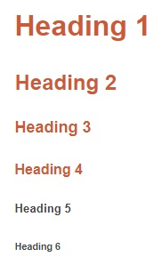 html heading