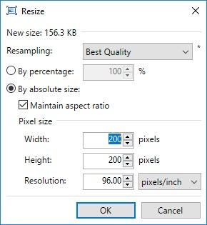html image tag resize